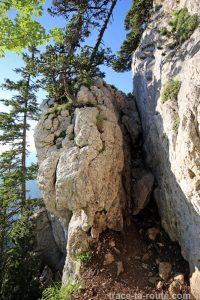 Sentier de la Dent de Crolles par le Trou du Glaz