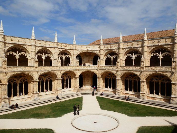 Cloitre intérieur Monastère des Hieronymites Belem Lisbonne Portugal Lisbon Lisboa Mosteiro dos Jerónimos