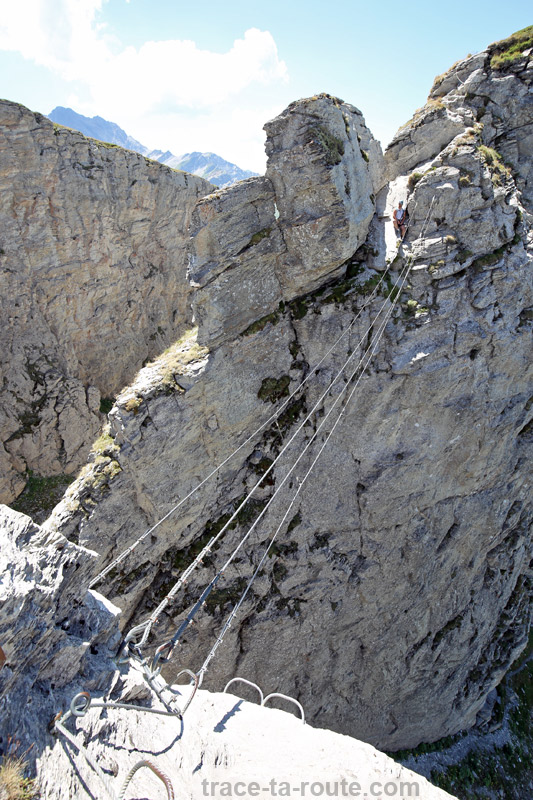 Pont de singe Via Ferrata Roc du Vent Roselend