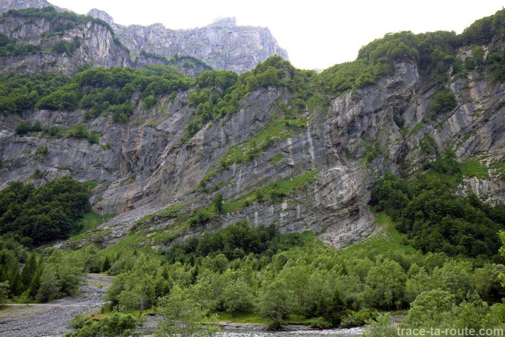 Le Pas du Boret et la Pointe de Bellegarde depuis la Combe du Fer-à-Cheval