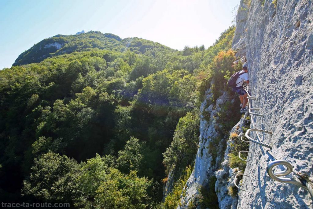 Via ferrata Dent du Chat - parcours Roc du Cornillon