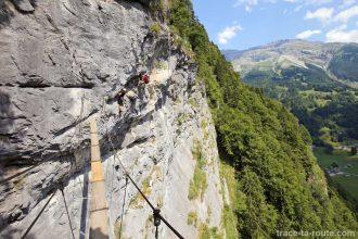 Via ferrata du Mont de Sixt-Fer-à-Cheval - Passerelle et échelle