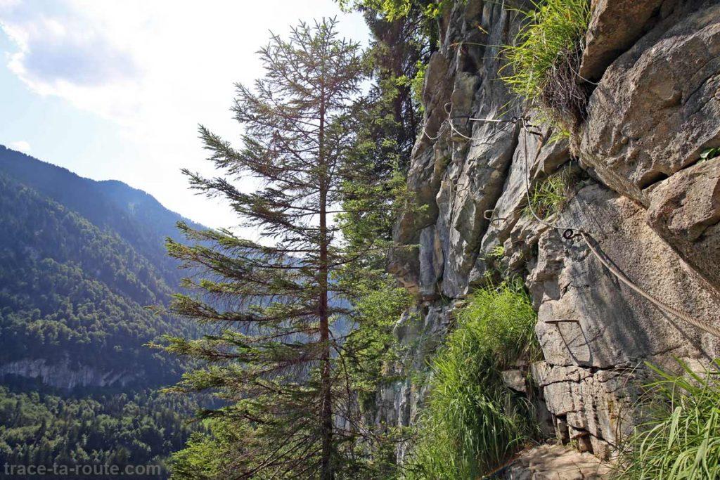 Via ferrata du Mont de Sixt-Fer-à-Cheval - Traversée d'Ally