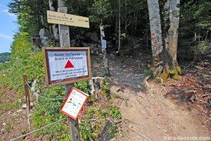 Accès Via ferrata du Mont de Sixt-Fer-à-Cheval