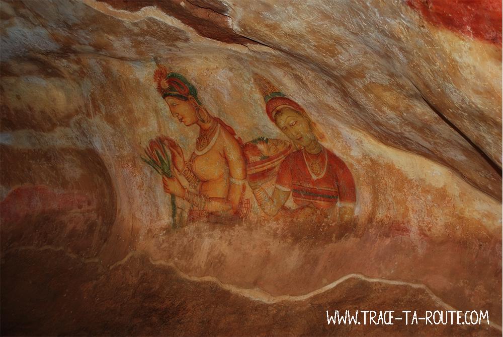 Fresque à Sigirya, Sri Lanka