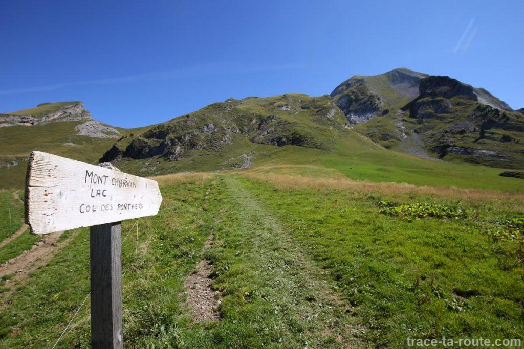 Sentier de randonnée au Mont Charvin
