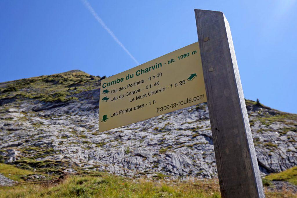 Itinéraires à la Combe du Charvin