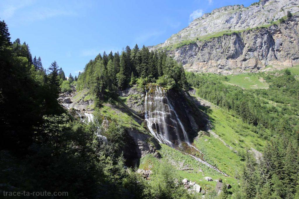 Cascade de la Sauffaz et Cascade de la Pleureuse à Sixt-Fer-à-Cheval