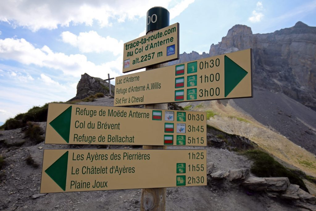 Itinéraires de randonnée depuis le Col d'Anterne