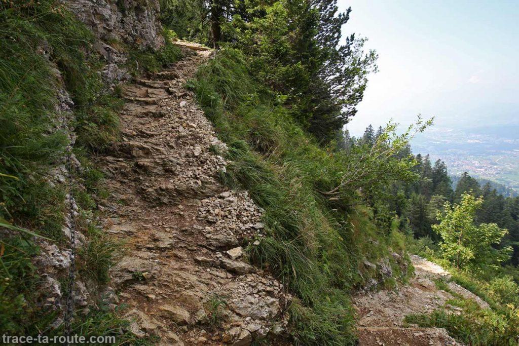 Sentier Grand Montoir, Randonnée Parmelan