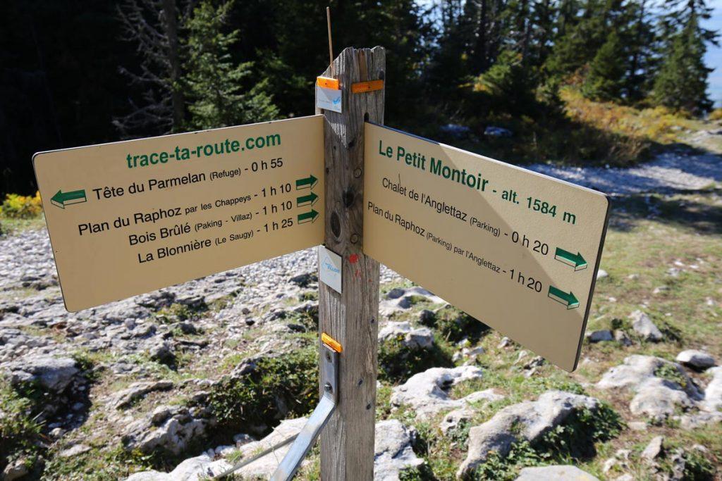 Itinéraires randonnée Le Petit Montoir Parmelan