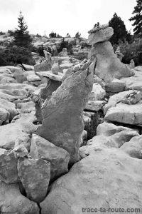 Personnage en pierres sur le Plateau du Parmelan