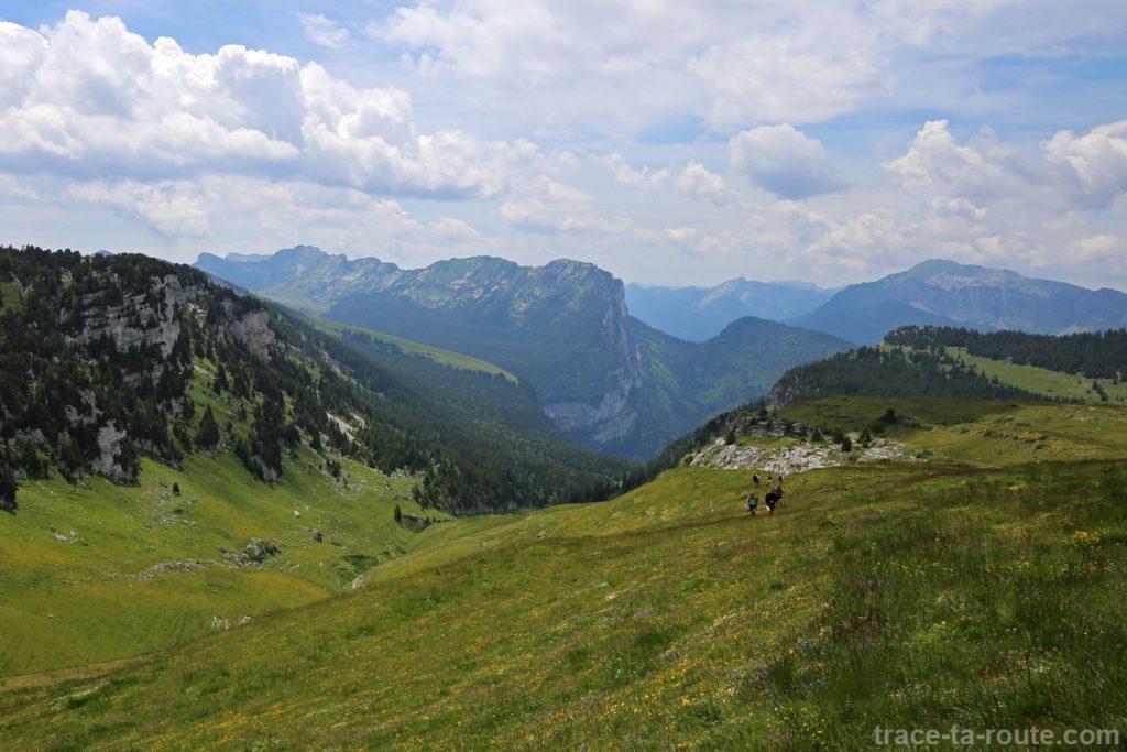Les Lances de Malissard et le Pas de l'Échelle depuis la Croix de l'Alpe, en Chartreuse