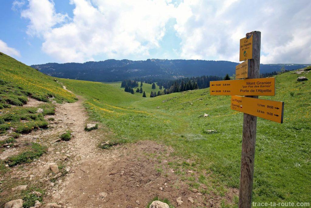 Le Plateau de l'Alpette depuis le Col de l'Alpette
