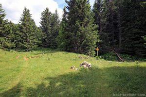 Itinéraire pour la randonnée au sommet du Pinet