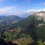 Le Col du Granier, le Mont Granier, La Plagne et le Col de l'Alpette depuis le Sommet du Pinet, en Chartreuse