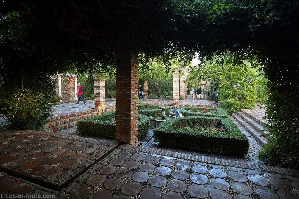 Jardin de Alcazaba, forteresse palais de Malaga