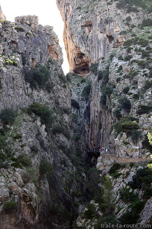 Début du Caminito del Rey - Ardales, Malaga, Andalousie, Espagne