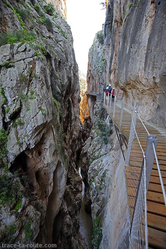 Gorge au Caminito del Rey - Ardales, Malaga, Andalousie, Espagne