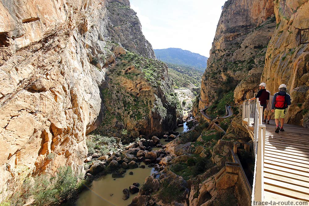 Canyon au Caminito del Rey - Ardales, Malaga, Andalousie, Espagne