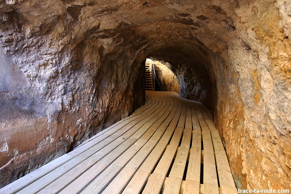 Tunnel du parcours du Caminito del Rey - Ardales, Malaga, Andalousie, Espagne