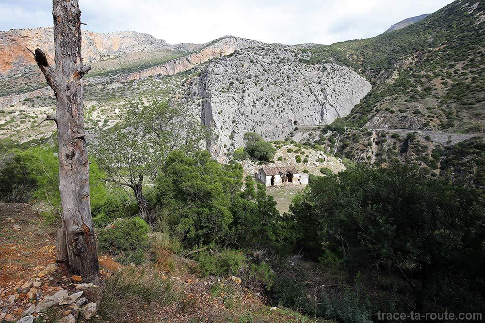 Maison abandonnée le long du sentier du Caminito del Rey - Ardales, Malaga, Andalousie, Espagne
