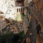 Ancienne via ferrata du parcours du Caminito del Rey - El Chorro, Malaga, Andalousie, Espagne