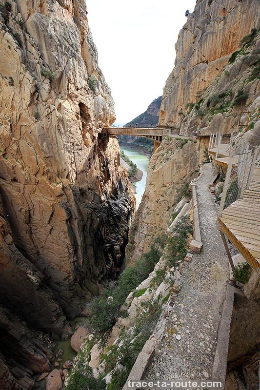 Gorge du Défilé de los Gaitanes et ancien parcours de la via ferrata du Caminito del Rey - El Chorro, Malaga, Andalousie, Espagne