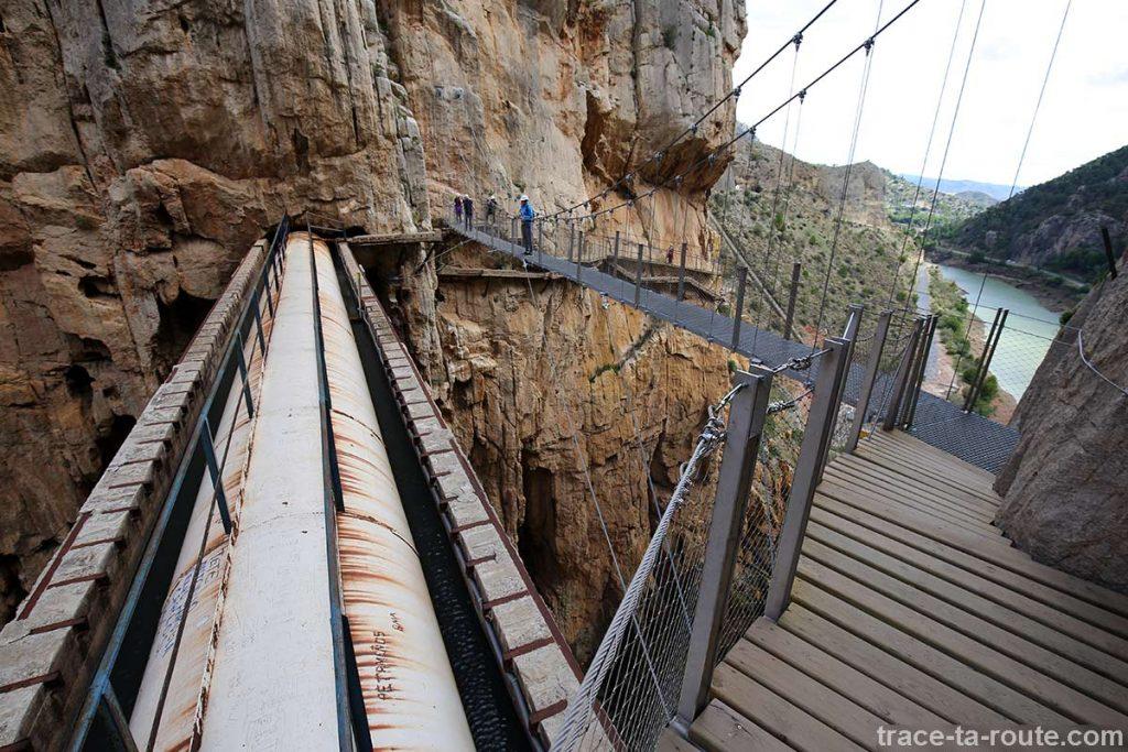 Pont et passerelle du parcours du Caminito del Rey - El Chorro, Malaga, Andalousie, Espagne