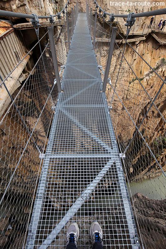 Passerelle du Caminito del Rey - El Chorro, Malaga, Andalousie, Espagne