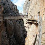 Pont suspendu du Caminito del Rey - El Chorro Andalousie Espagne Andalucia Espana Spain mountain bridge