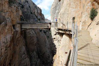Pont suspendu du Caminito del Rey - El Chorro, Malaga, Andalousie, Espagne