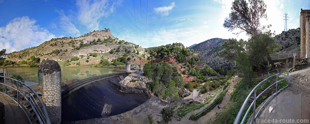 Barrage au départ du Caminito del Rey
