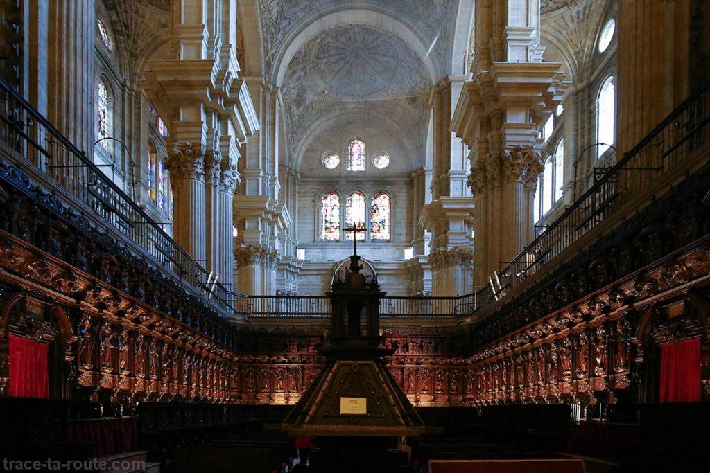 "Salles de coeur de la Cathédrale de l'Incarnation de Malaga (Catedral de la Encarnación ""La Manquita"") Intérieur"