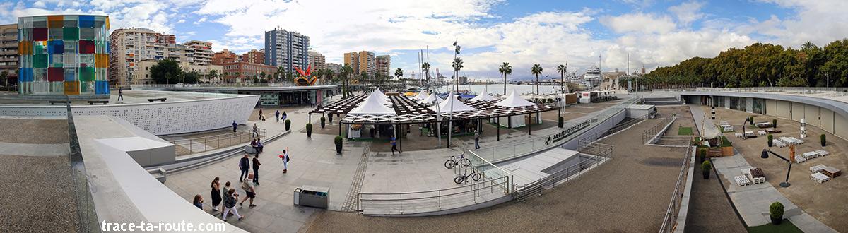MuelleUno, Port deMuelleUno, Port de Malaga Andalousie Espagne Andalucia Espana Spain Malaga (le marché et le Centre Pompidou)