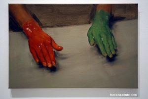 """Rey hand, green hand"" (2010) Michaël BORREMANS - Exposition ""fixture"" au Centre d'Art Contemporain CAC Malaga"