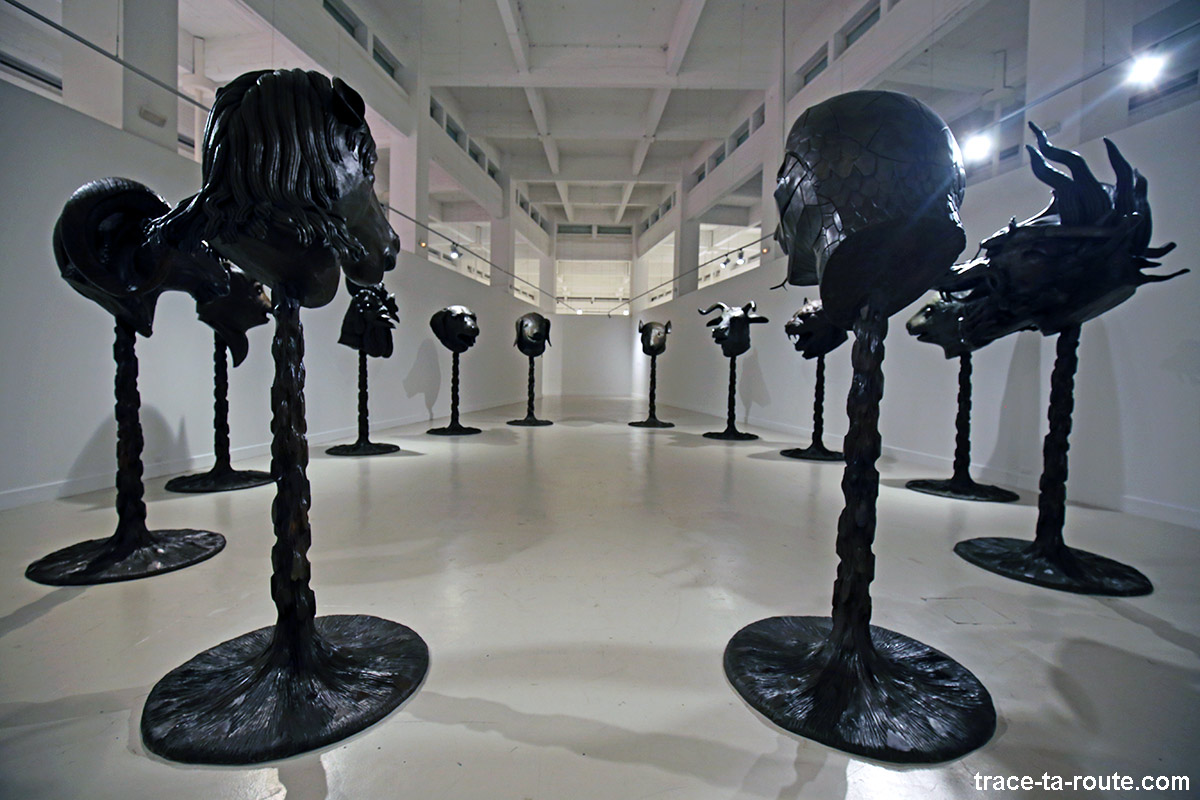 """Circle of Animals / Zodiac Heads"" (2010) Ai WEIWEI - Collection permanente du Centre d'Art Contemporain CAC Malaga"