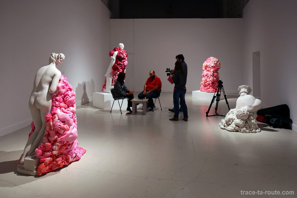 "Interview de l'artiste sculptrice Marina VARGAS dans son exposition ""Ni animal ni tampoco angel"" - Centre d'Art Contemporain CAC Malaga"