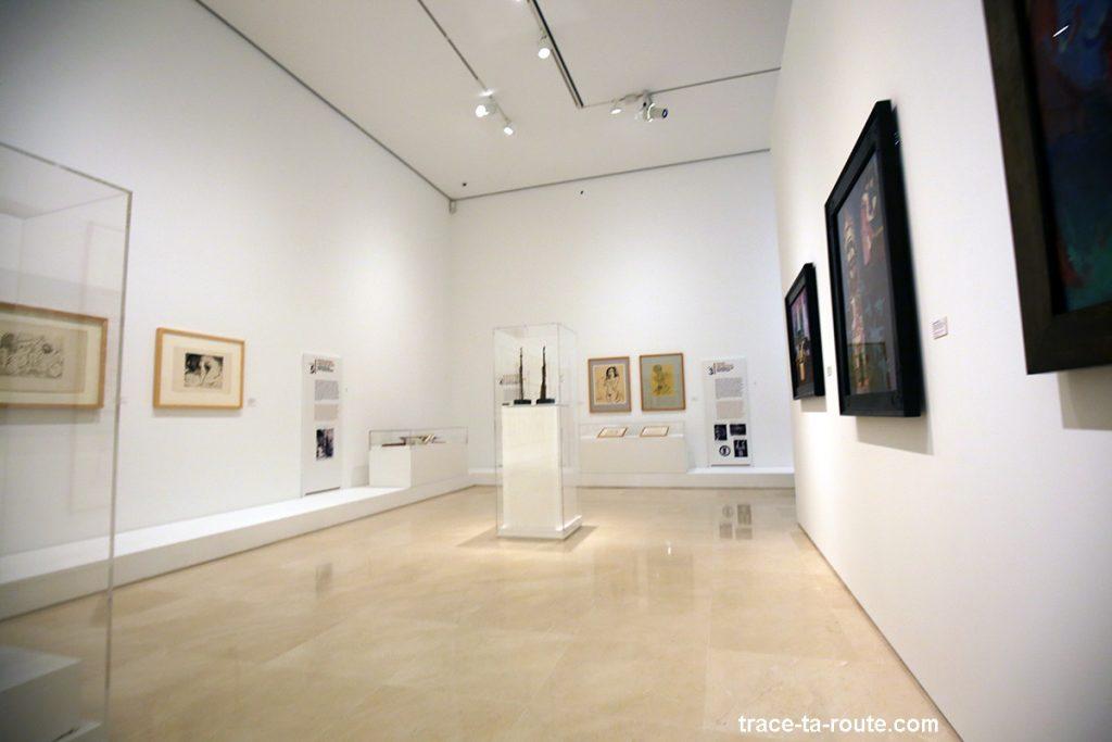 Salle d'exposition à l'intérieur du Musée Picasso, Malaga