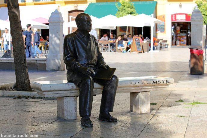 Statue Picasso - Sculpture, Plaza de la Merced, Malaga
