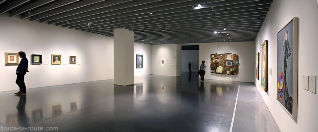 "Salle ""Autoportraits"" - collection permanente Centre Pompidou Malaga"