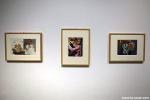 """""""Picasso Grosz, hacia"""" (1967), """"Sans titre, hacia"""" (1969), """"Tears for two"""" (1963) ERRÓ - Centre Pompidou Malaga"""