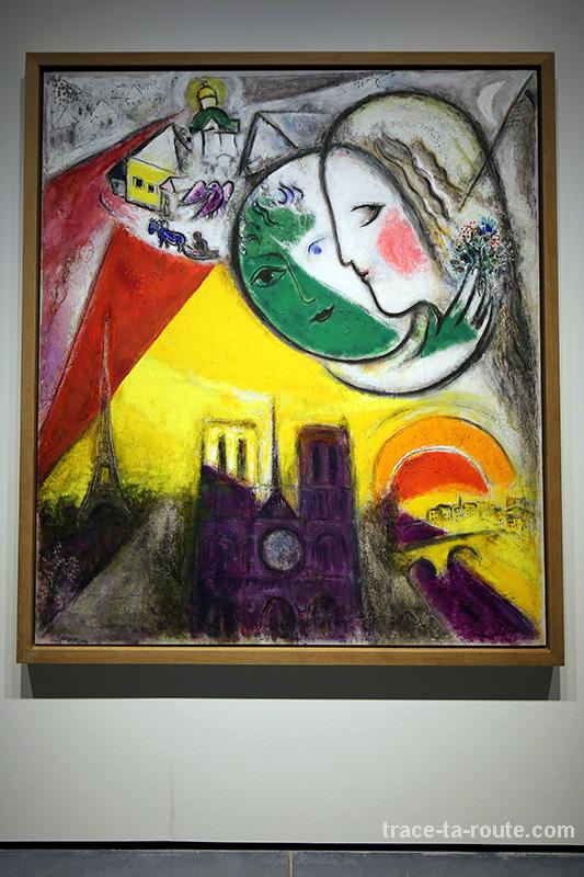 """""""Dimanche"""" (1952-1954) Marc CHAGALL - Centre Pompidou Malaga"""