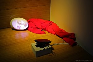 """Switch (the eye)"" (1996) Tony OURSLER - Centre Pompidou Malaga"