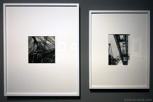 """""""Cinquantenaire de la Tour Eiffel"""" (1939) Denise BELLON / """"Pont métallique"""" (vers 1940) Germaine KRULL - Exposition """"Son Modernas, Son Fotografas"""" Centre Pompidou Malaga"""