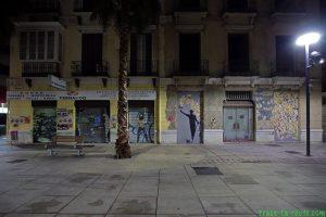 Street Art à Malaga - Graffitis immeuble Tomas Heredia