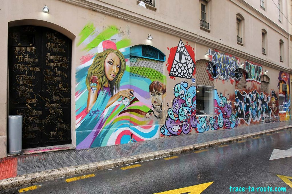 Street Art à Malaga - Graffitis Calle Vendeja Andalousie Espagne Spain Andalucia Espana
