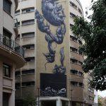Street Art à Malaga - Graffitis Roa immeuble Calle Casas de Campo