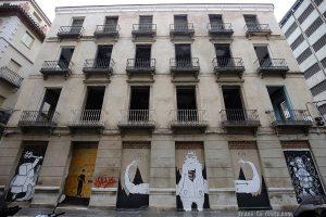 Street Art à Malaga - Graffitis immeuble Calle Blasco de Garay