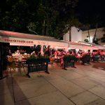 Terrasse du bar restaurant bodega El Pimpi, plaza Zegri, Malaga